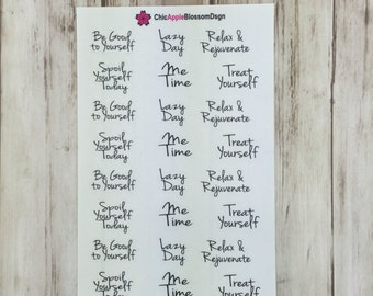 Me Time Calligraphy Stickers
