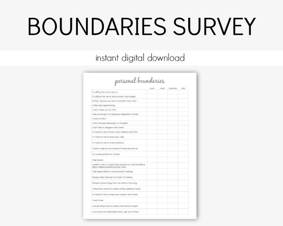 Personal Boundaries Survey: Mental Health Depression