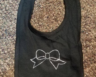 Infant Bib with Bow