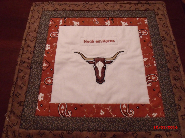 Hook Em Horns Wall Hanging University Of Texas Longhorns