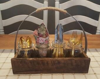 Handmade Mason Jar Caddy
