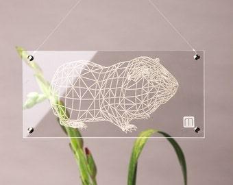 "Plexiglass image ""Marsvin No1 lille"""