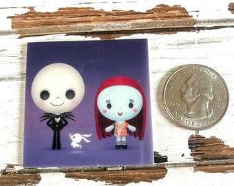 Jack and Sally taking their dog for a walk Needleminder