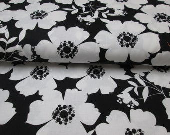 fabric cotton black the white