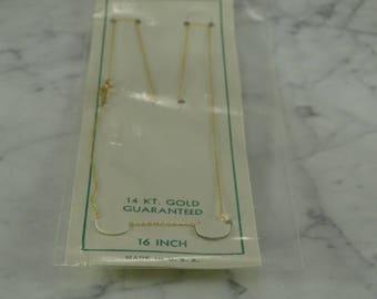 "14K 16"" Gold Neck Chain"