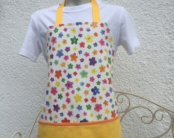 Child flower and yellow apron