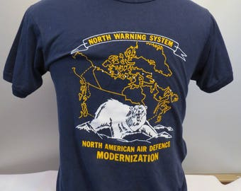 Vintage Canadian Military Shirt - NORAD Modernization - Men's Large