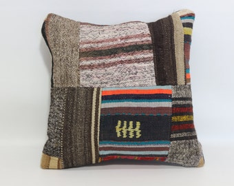 turkish kilim pillow 20x20 kilim pillow decorative kilim pillow sofa pillow patchwork kilim pillow anatolian kilim pillow SP5050-1058