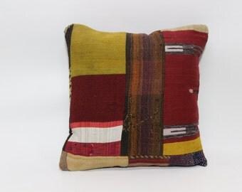 fllor pillow sofa pillow throw pillow 20x20 patchwork kilim pillow ethnic pillow boho wool cushion cover bed pillow throw pillow SP5050-1165