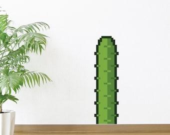 8 Bit Short Cactus Wall Decal