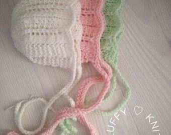 Newborn and Baby Bonnet - Old Style Bonnet