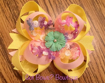 Springtime Stacked Boutique Bow