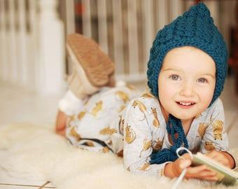 TEAL Puff Stitch Bonnet - Toddler (18 months-2 yrs)