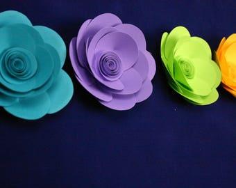 "Small paper flowers,  table decor  ""KARA"""