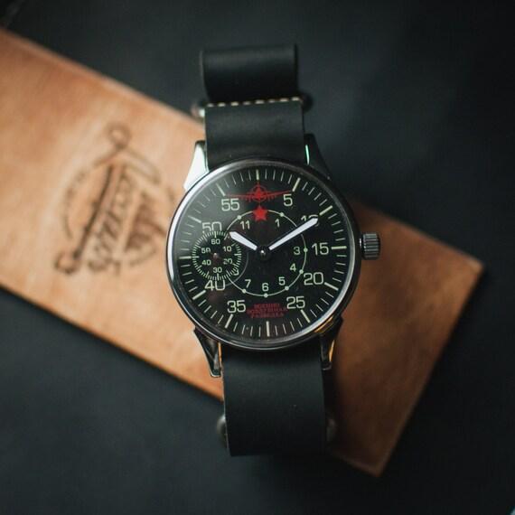 molnija black soviet watches mens