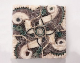 WIND felt textural painting - Perfect Christmas Gift