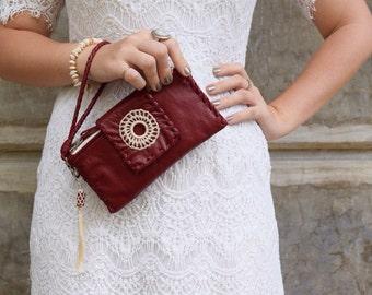 Bella Clutch | Leather clutch | Boho clutch | Bohemian Clutch | Boho Wallet | Bohemian Wallet | Handmade | Leather Purse | Leather Wallet