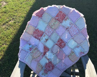 Sweet Chic Pink Baby Rag Quilt Ready to Ship!