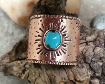 Hair jewelry.  Turquoise jewelry. Southwestern jewelry. Copper jewelry. Boho jewelry. Ponytail holder. Hair accessories. Gemstone jewelry