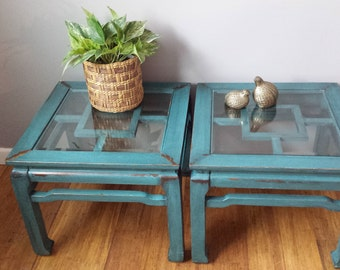Turquoise coffee table Etsy