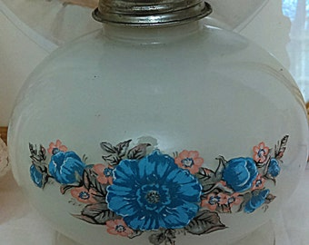 Antique Glass Floral Lantern Vintage Wedding Decor