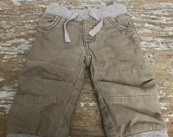 Washed Khaki Pants for Baby Boy Old Navy Size 12-18 Month