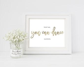 Wedding Sign Template   Dance Wedding Sign   Wedding Sign   Printable Wedding Sign   5x7 & 8x10   EDN 5455