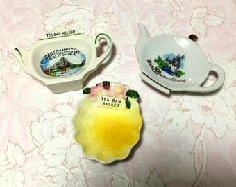 Vintage Collection of Teabag Holders- Pick One