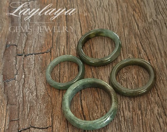 Jade Ring,Green Jade Ring,Gemstone Ring,Jade Jewelry,Natural Jade -Gift for her- Personalized Gift -Promise ring,Nature ring,Jade Band Ring