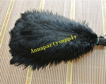 50 pcs black ostrich feather plume for wedding party supply wedding centerpiece