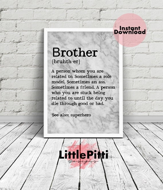 Brother Gift Funny Brother Gift From Sister For Brother Big