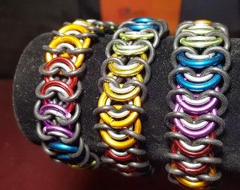 Rainbow Vertebrae Stretchy Bracelet