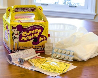 Homemade Cheese making kit! Makes over 20 lbs and 8 types! With instructions!