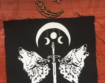 Wolf Sword & Moon patch