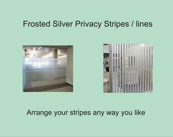 Frosted Stripes or Lines x 5 m, 10 m or 20 m lengths - Glass Privacy Film - windows doors