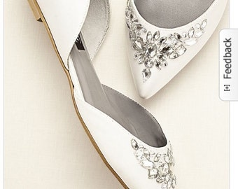 Crystal Bridal / Bridesmaid / Dress Ballet Flats Wedding Shoes