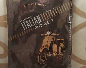 Starbucks coffee italian roast zipper bag