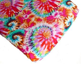 Tie Dye Changing Pad Cover or Crib Sheet, Gender neutral baby, tie dye baby, tie dye nursery bedding, colorful nursery, tie dye crib sheet