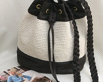 bucket bag crochet bucket bag crossbody bag shoulder bag