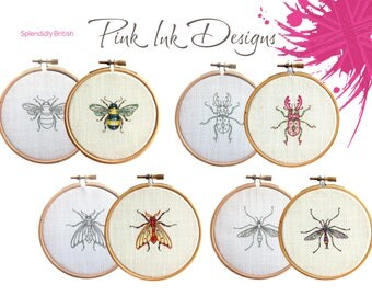 Beetle bug embroidery pattern.