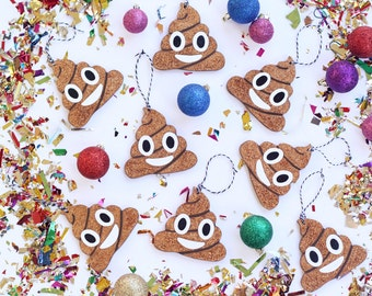 Poop Emoji Ornament | Emoji Christmas Ornament | White Elephant Gift