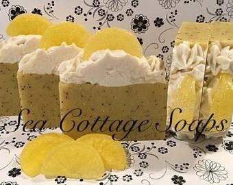 Lemon Verbena Cold Process Bar Soap with Piping! Vegan Soap