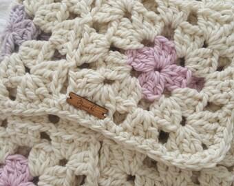 Alpaca&Wool Chunky Granny Blanket