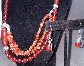 Carnilian Multi layer Necklace