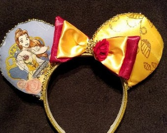 Princess Bell with Rose Disney Inspired Ears