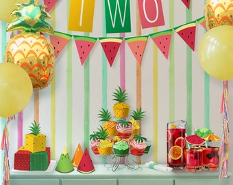 Party Kit // Tutti Frutti Party Theme // Downloadable + Printable