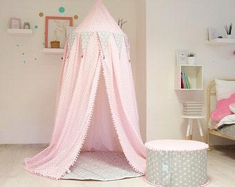 baldachin mit spielmatte prinzessin zimmer dekor baldachin rosa zimmer dekor mdchen zimmer - Prinzessin Bett Baldachin Mit Lichtern