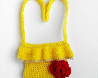 Princess Belle Inspired Crochet Purse