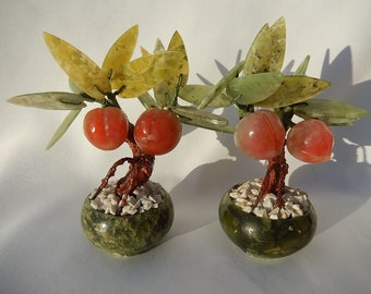 Pair of Happiness Tree in Jade