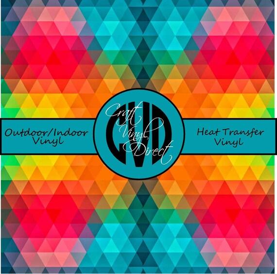 Geometric Patterned Vinyl // Patterned Vinyl // Outdoor and Heat Transfer Vinyl // Pattern 530